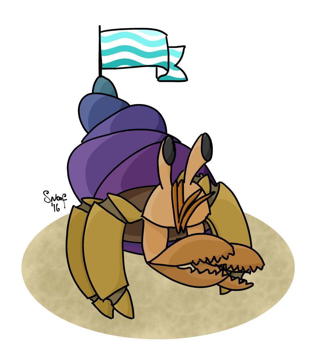Hermit Crab by kipplesnoof