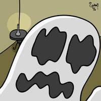 Ghost Taking A Selfie by kipplesnoof
