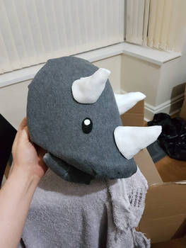 Triceratops puppet head by kipplesnoof