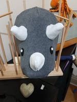 Triceratops puppet head. by kipplesnoof