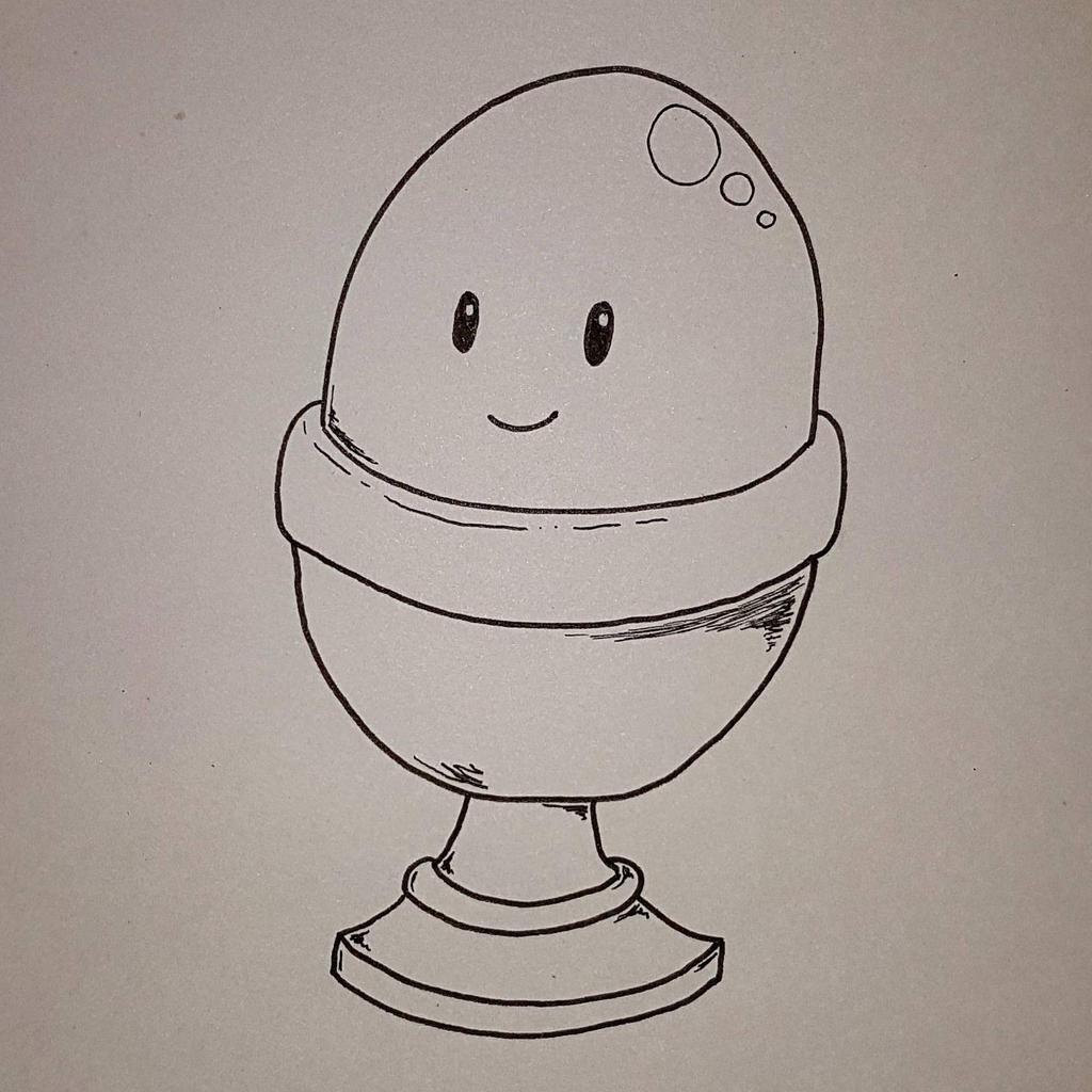 Friendly egg. by kipplesnoof