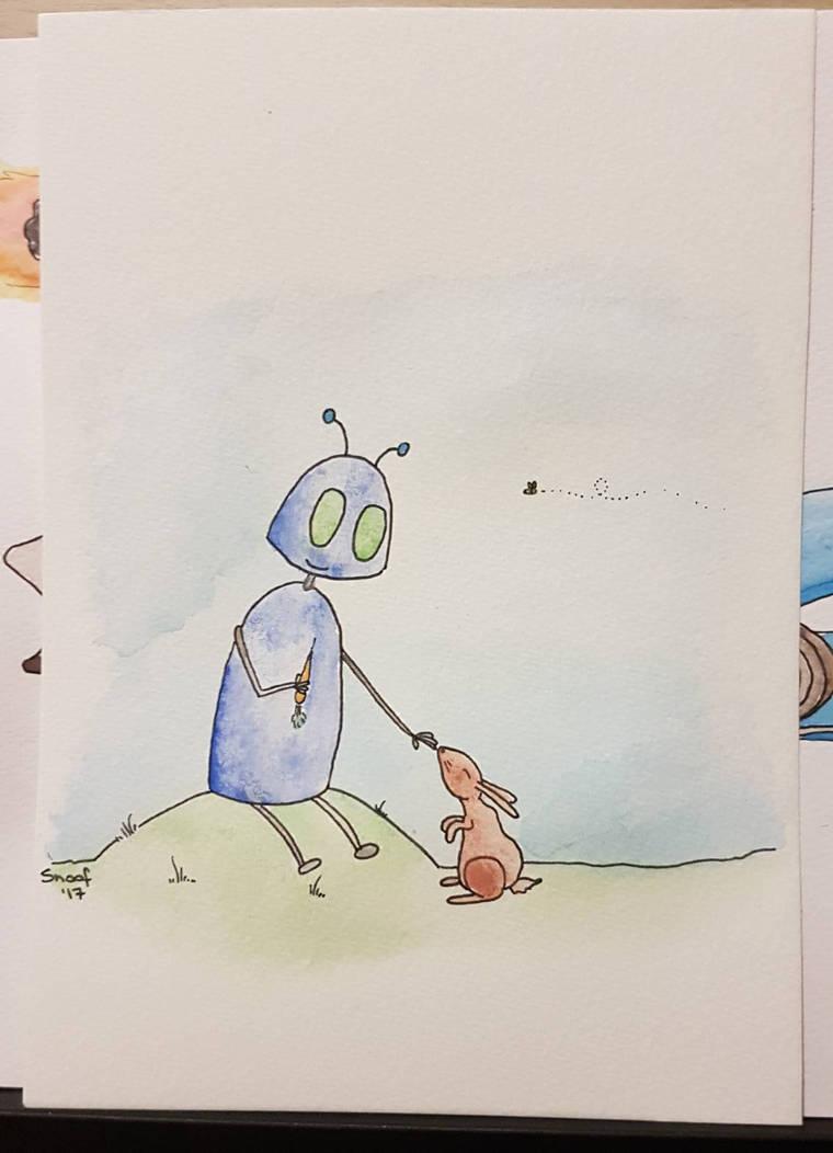 Bot and Bun. by kipplesnoof