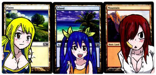 Basic Land Alter Art Fairy Tail OVA 5 set by Abystoma