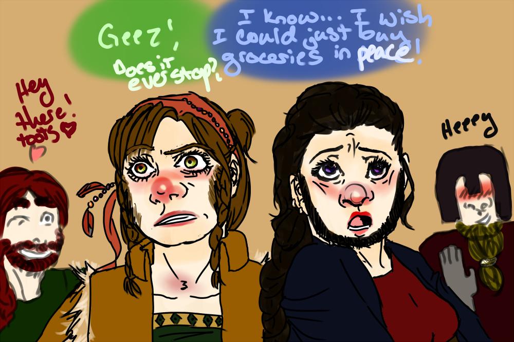 Dwarf Women by lallyzippo