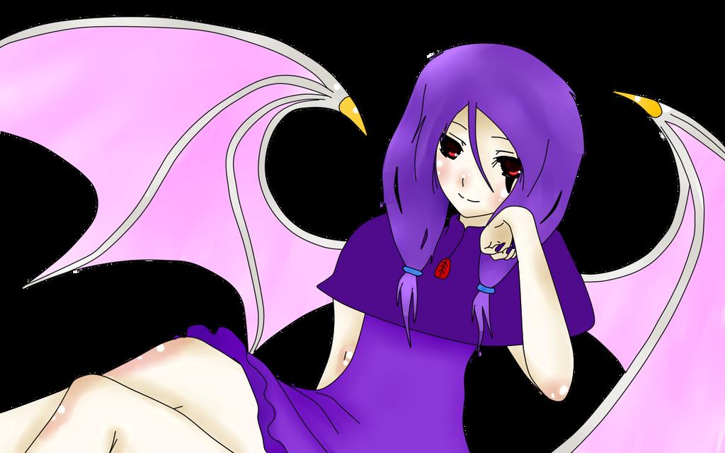 Shisuka the Albino Bat by BrokenDeadMemories