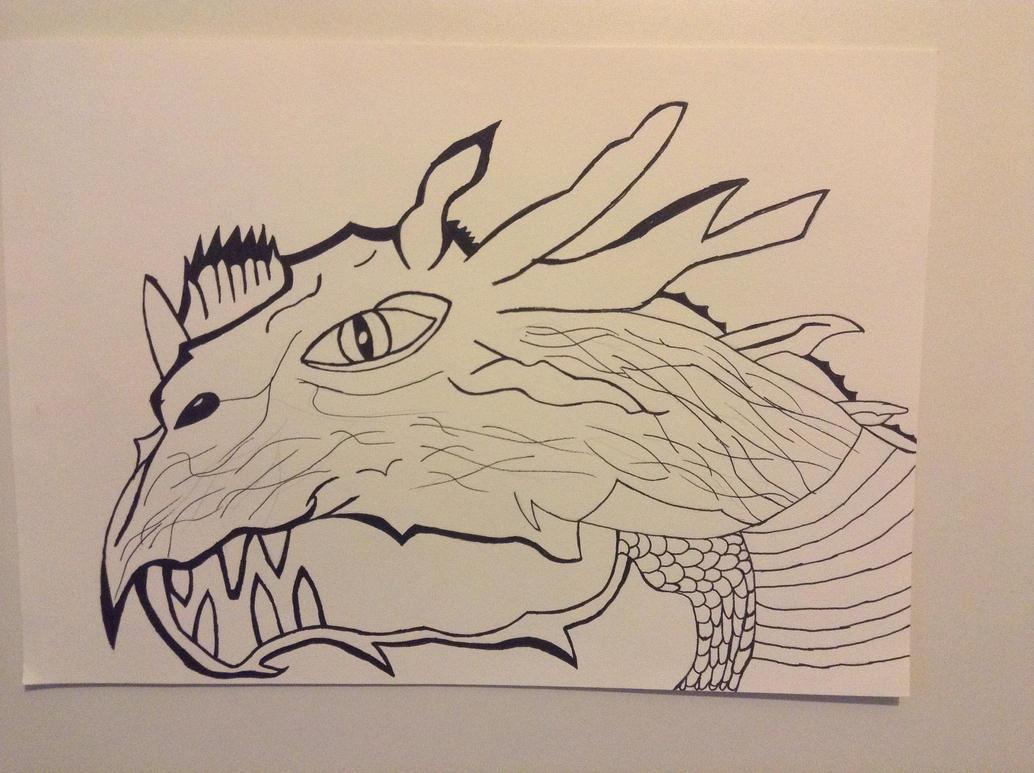 Dragon Drawn by christ13430