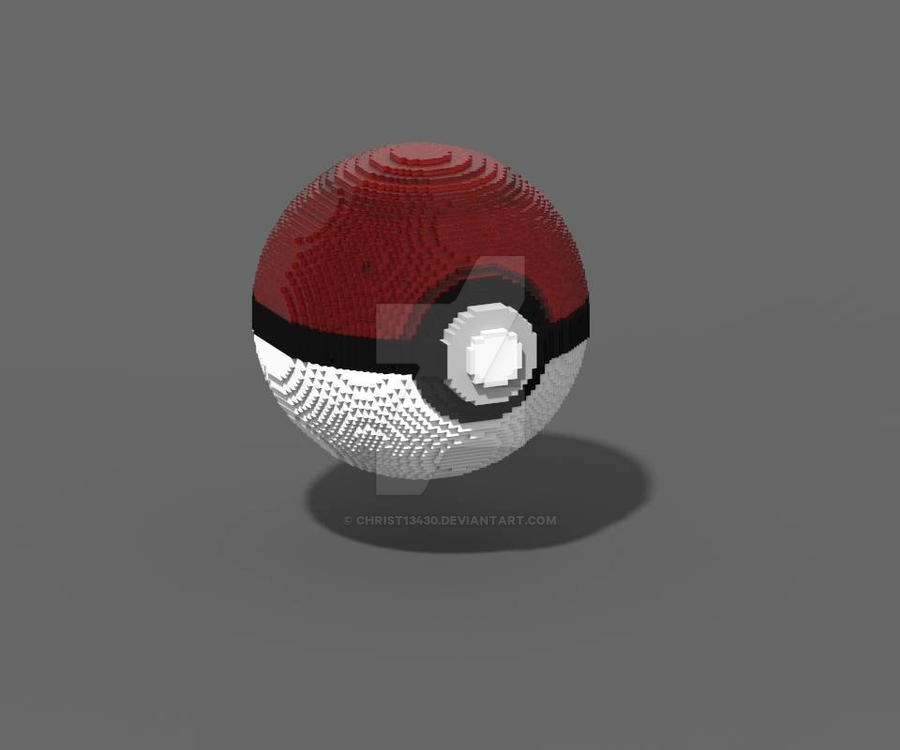 pokeball pixel by christ13430