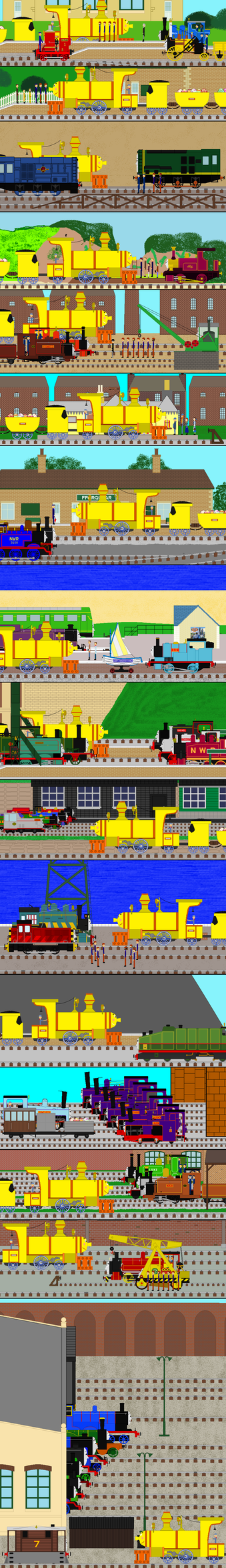Distributing Easter eggs by Sodor by pauloddd2005
