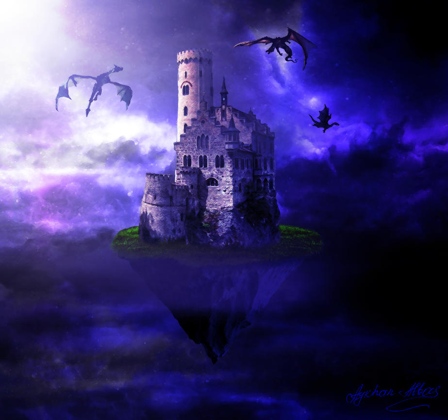 dragon castle sky by aykhan - Violet Castle 2016