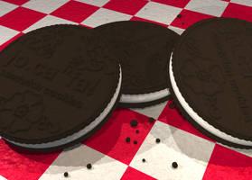 Sandwich Cookies in 3d by softdrink