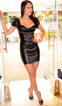 Morena in Leather