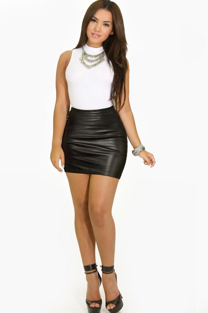 d1ab4d9e4e6d Black Leather Mini Skirt WINNER (KAYCEE) by MiniMan5468 on DeviantArt