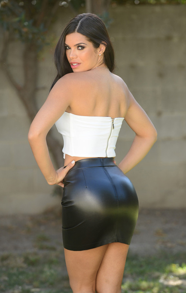 Tight ass mini skirt