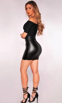 Claudia - Leather Mini