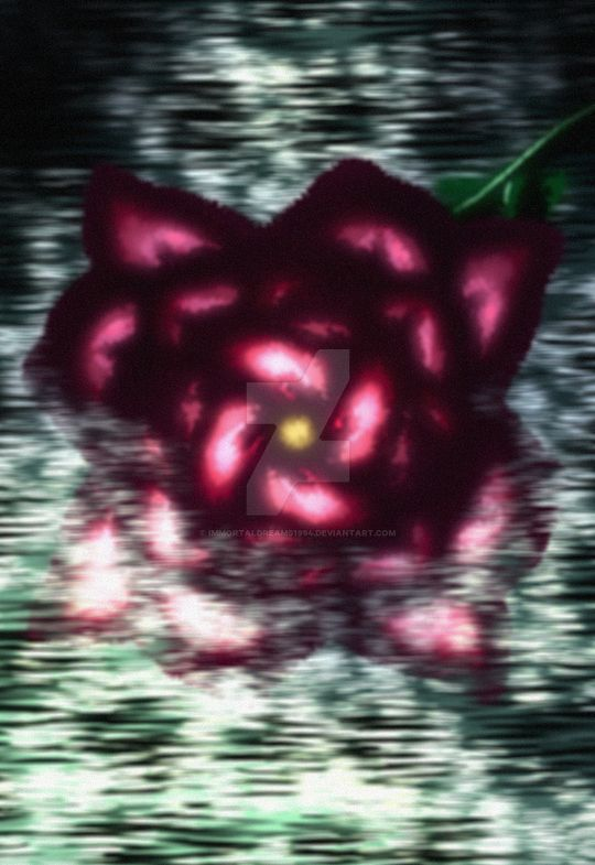 Flower On The Water - A Krita Experiment by ImmortalDreams1994
