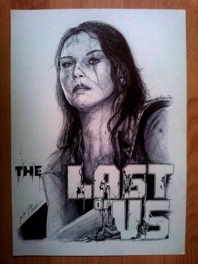 The Last Of Us Ellie By El3c7r0n On Deviantart