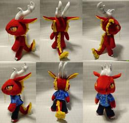 Plush Chibi Anthro Long Dragon