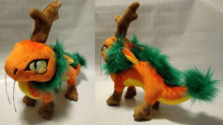 Plush Chibi Pumpkin Long Dragon
