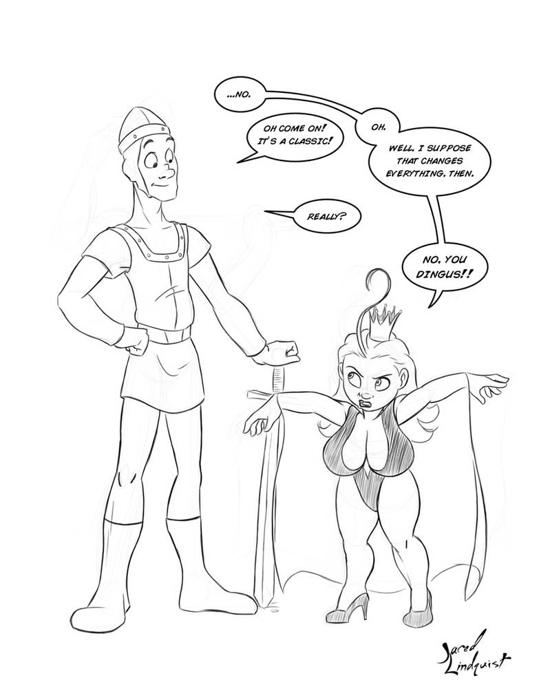 Daisy and Bill - Dragon's Lair by JKLind