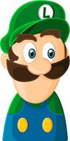 Luigi gashapon bust