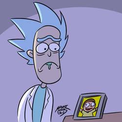 Rick looking at photo