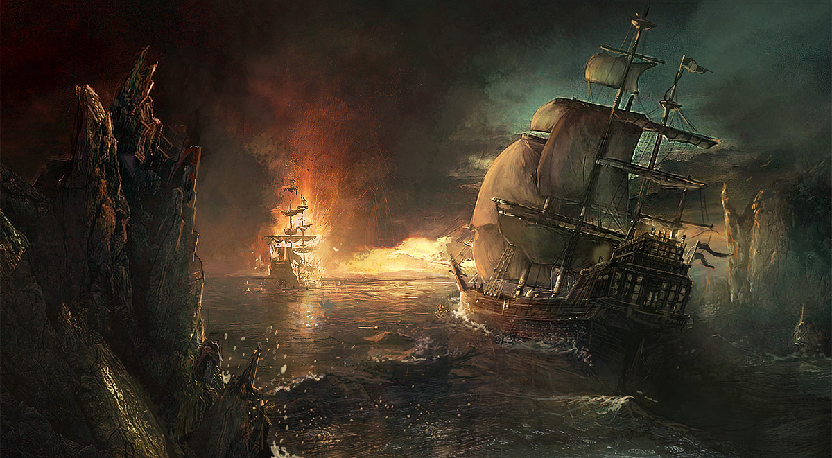 Pirate attack by pbario