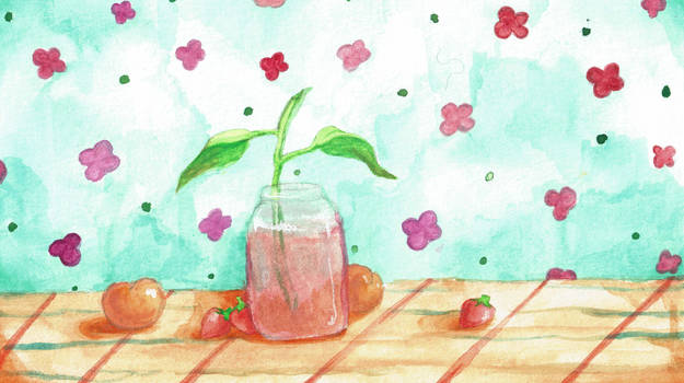 plant water color