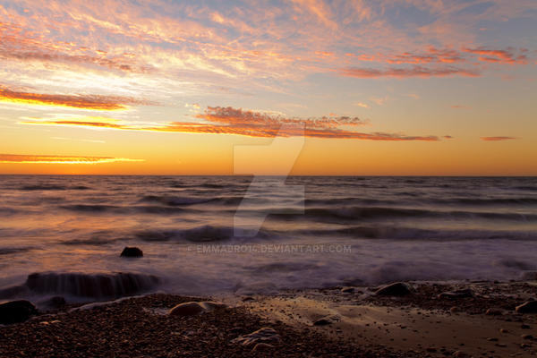 Sunset with longexsposure by Emmabro14