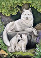 WHITE WOLF ALLEGORY by STRIX-artist