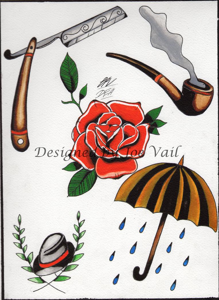 Traditional tattoo flash by deadendartjv on deviantart for Traditional tattoo flash
