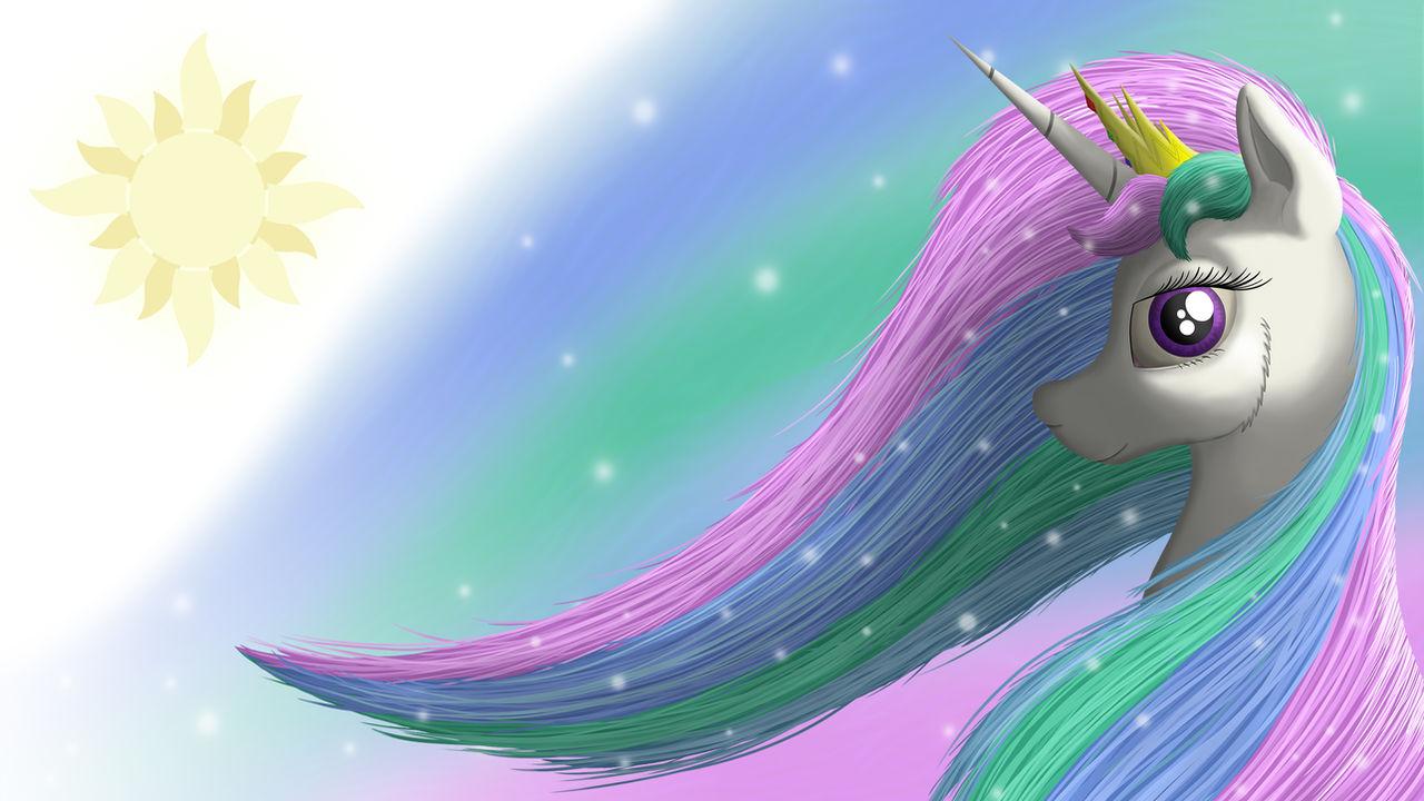 Princess Celestia Wallpaper 4K