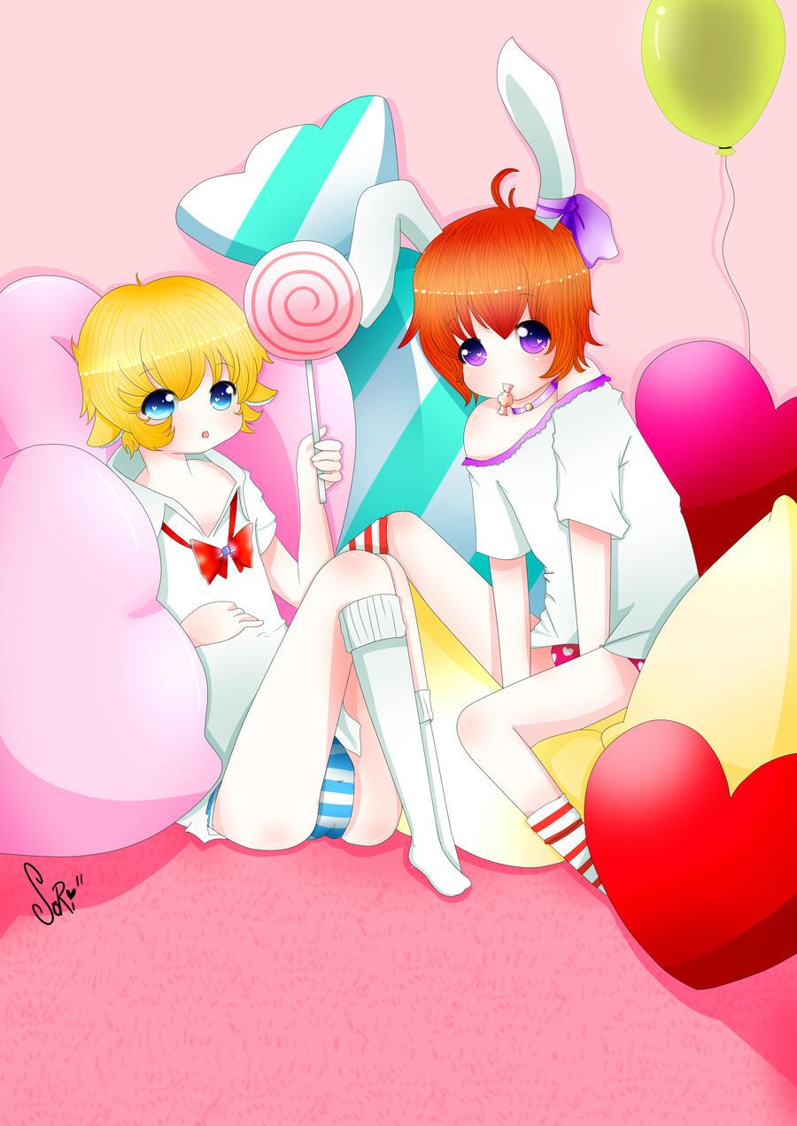 .: Sheepy and Leiko :. by SoriiNyu
