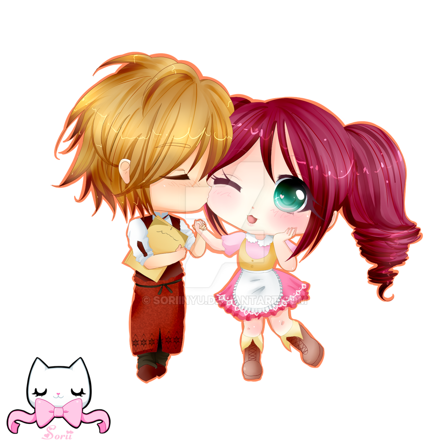 Couple Chibi by SoriiNyu