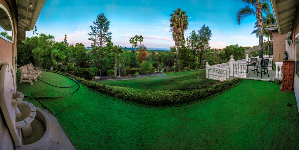 Backyard Pano Fallbrook California Panoramic by DropThePress