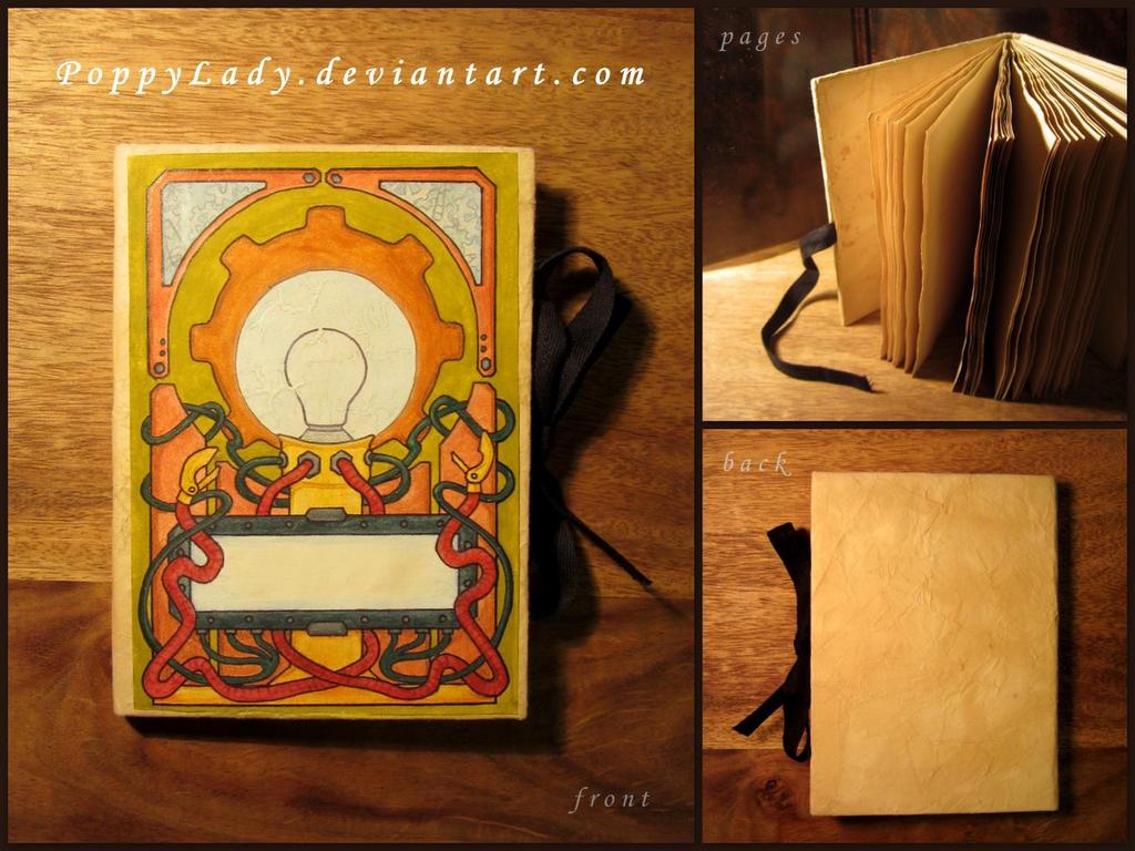 Steampunk notebook by PoppyLady