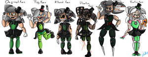 Marie from Splatoon all Fnaf versions! by Bluetta97