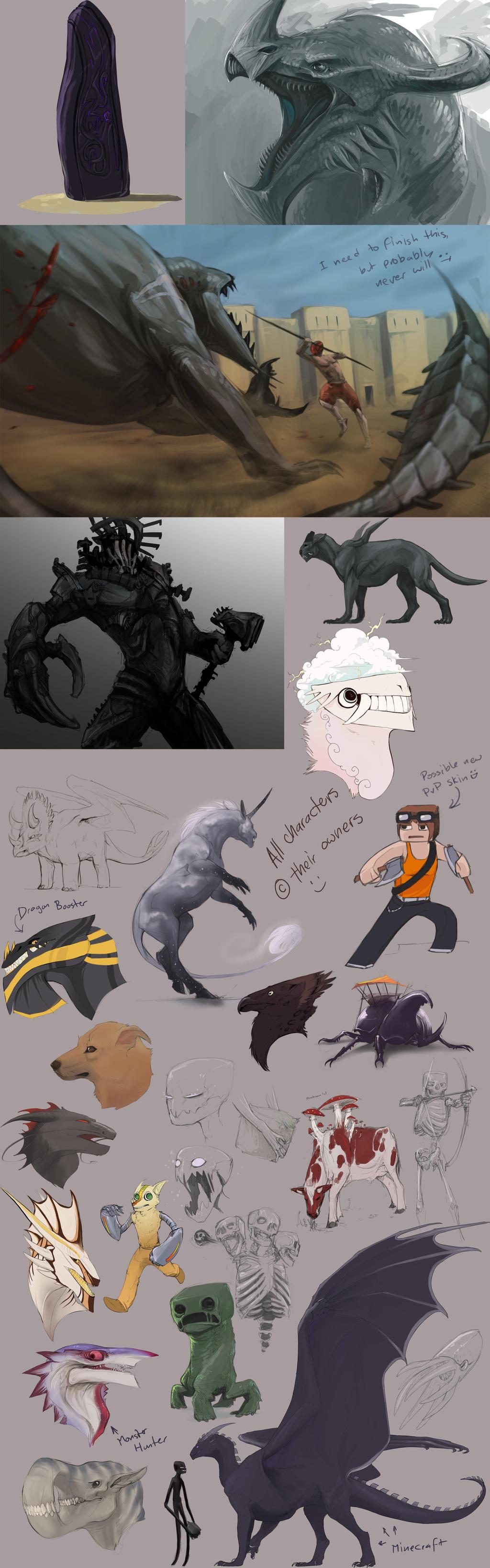 Massive sketchdump time! by Pythosblaze