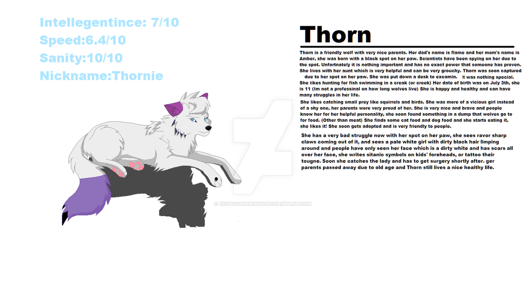OC (Thorn) by ExoticDrawings