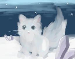 Snow Kitty by p-o-c-k-e-t