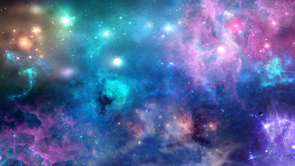 Colourful Space by Menqa Art on DeviantArt