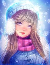 Snow Day Syndra [SPEEDPAINT] by Emi-Liu
