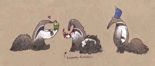 Little Anteaters by Wolfyu