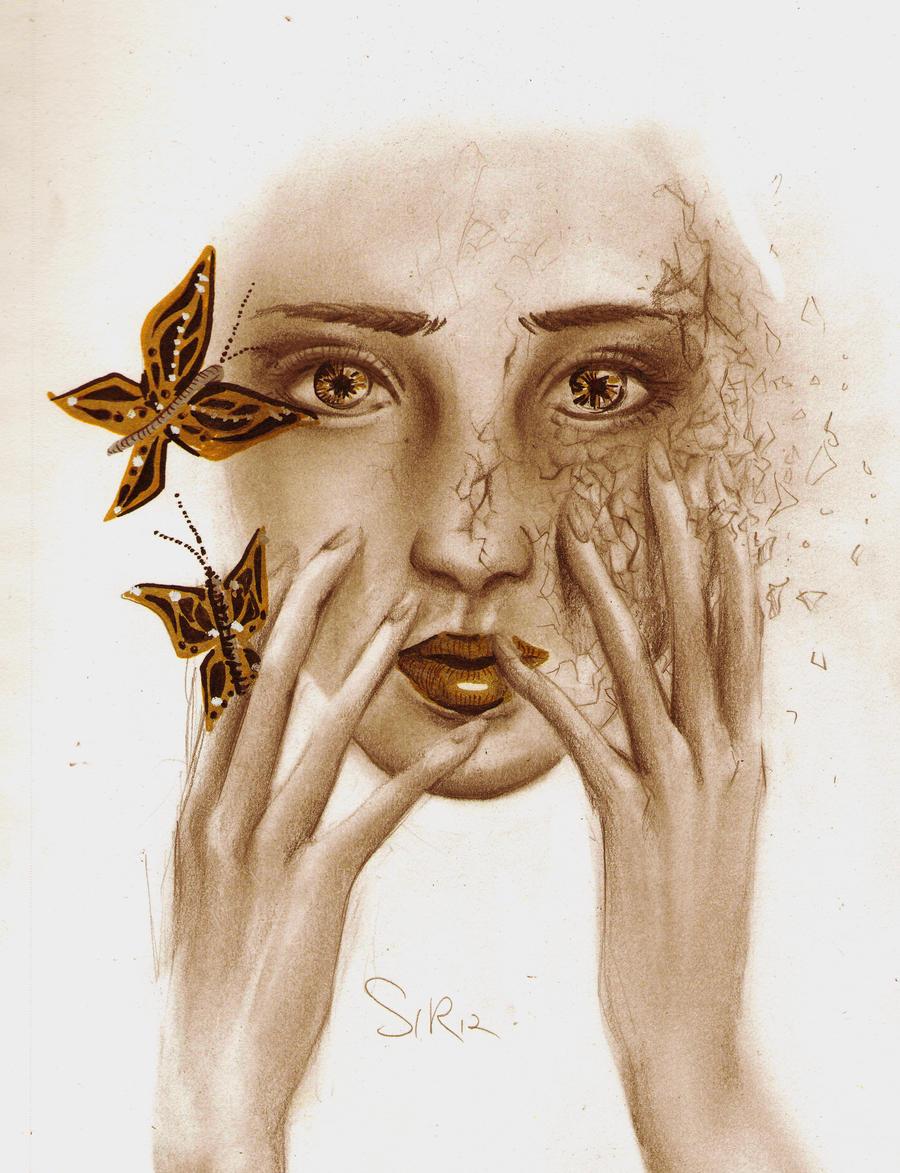 golden butterflies by Win-E
