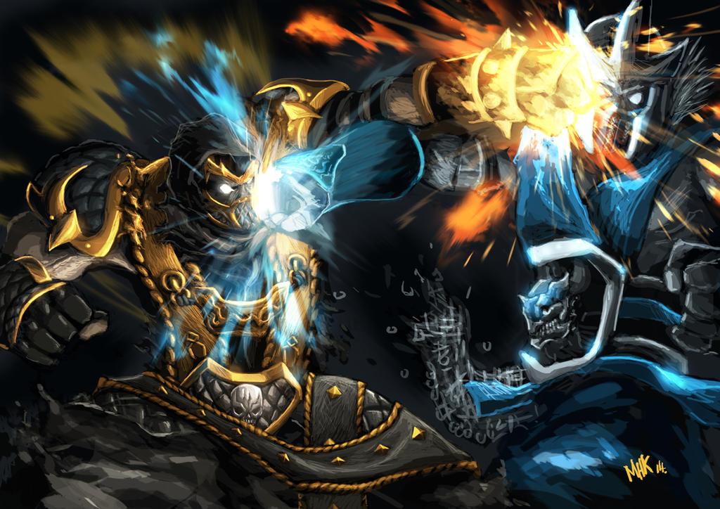 scorpion vs subzero Mortal Kombat Tribute by pematungWan ...