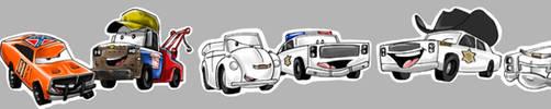 Hazzard cars -color- by undead-medic