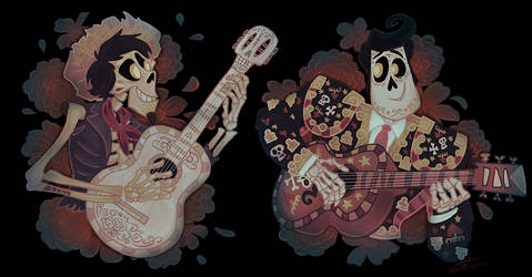 I like cute skeletons with guitars