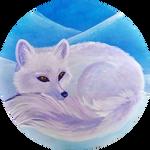 Arctic Fox Acrylic On Canvas