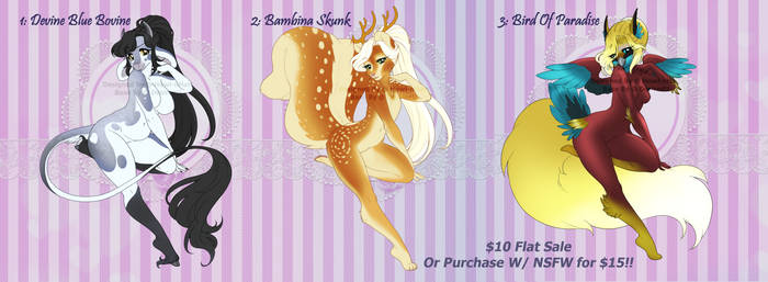 Flat Sale Adopts - 1/3 OPEN