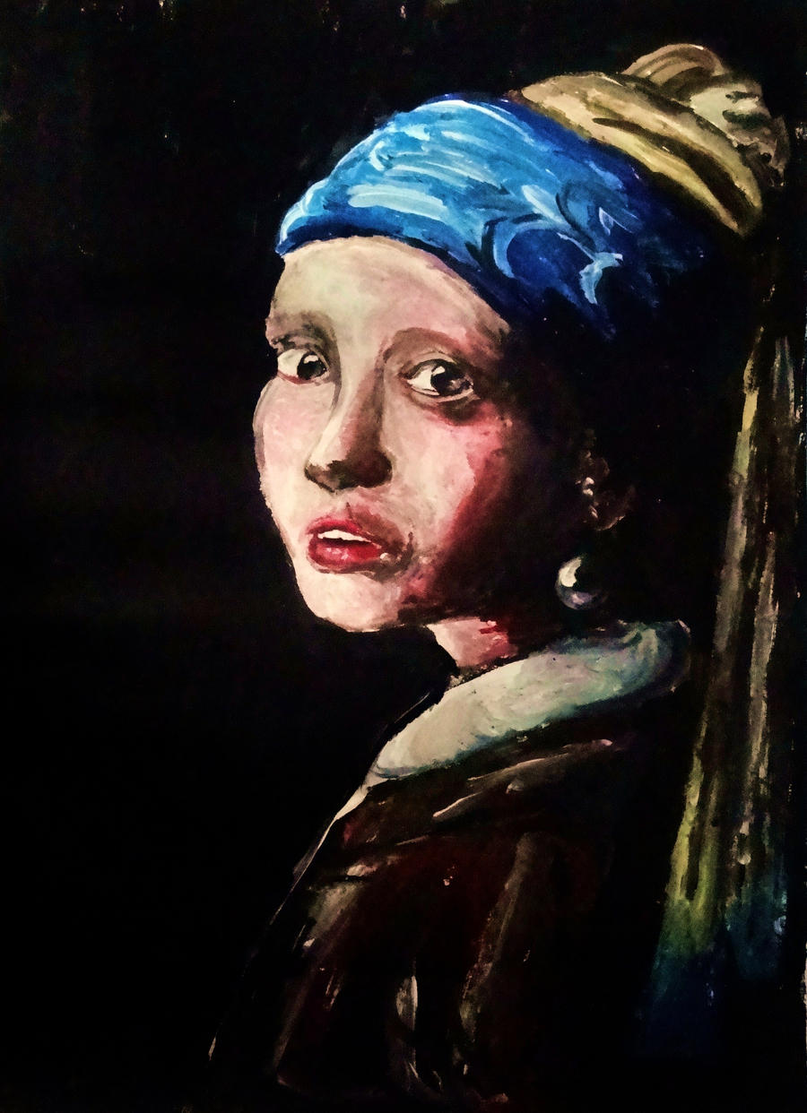Girl With The Pearl Earring By Sunset7