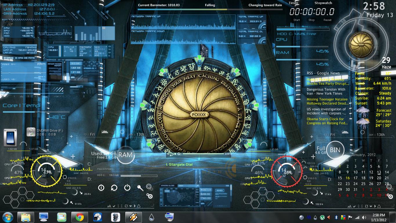 Animated Stargate Wallpaper by CGSA16C